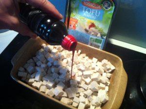 Gratin tofu beurre cacahuètes lait coco