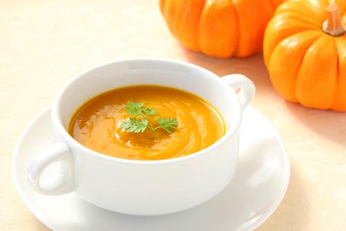 Soupe trio de légumes (potiron, carottes, pois chiches)